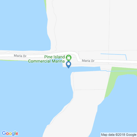 map of fishing charters in Pine Island