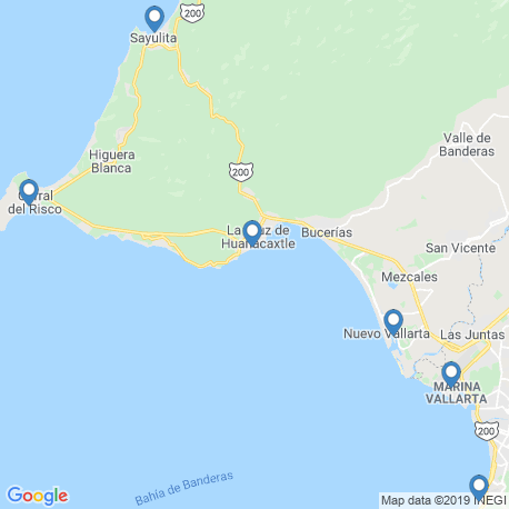 map of fishing charters in Nuevo Vallarta