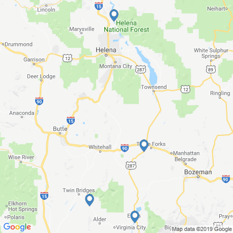 map of fishing charters in Yellowstone River