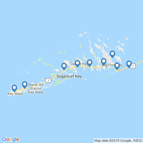 map of fishing charters in Stock Island