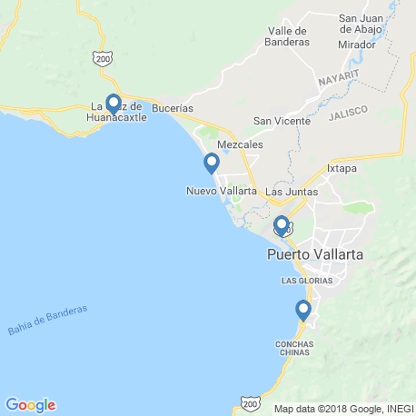 map of fishing charters in La Cruz De Huanacaxtle