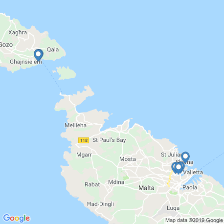 map of fishing charters in Malta