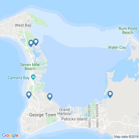 Карта рыбалки – Большой Кайман
