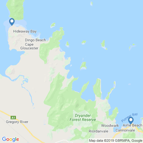 map of fishing charters in Airlie Beach