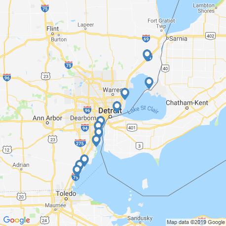 Карта рыбалки – Детройт