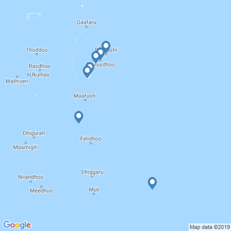 map of fishing charters in Malé