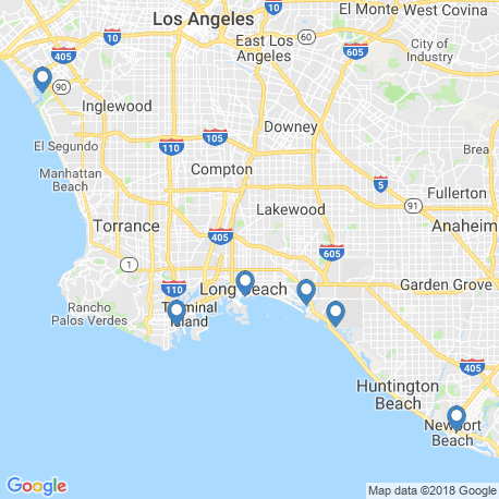 map of fishing charters in Los Angeles