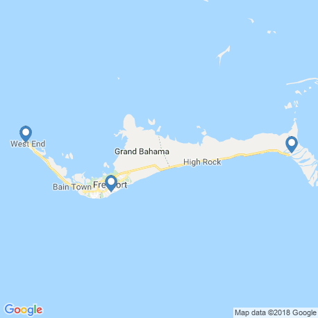 map of fishing charters in Freeport