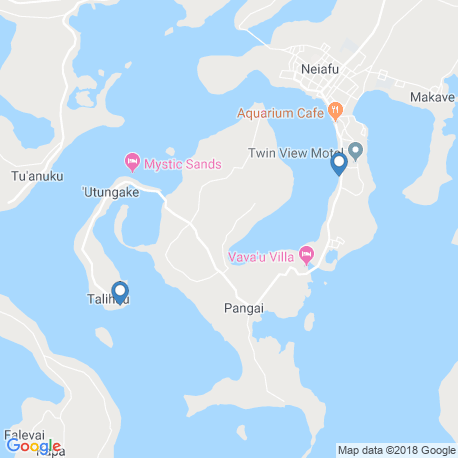 map of fishing charters in Tonga