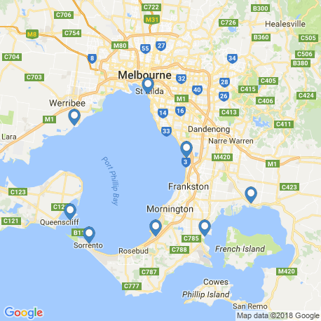 map of fishing charters in Hastings