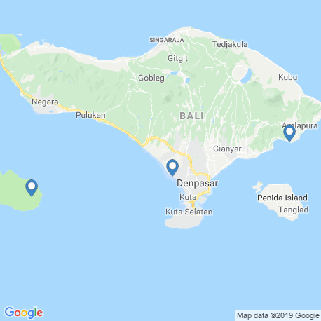 map of fishing charters in Bali
