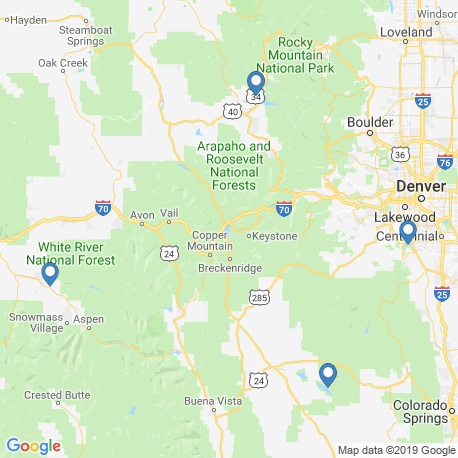 map of fishing charters in Colorado