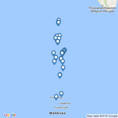 map of fishing charters in Malediven