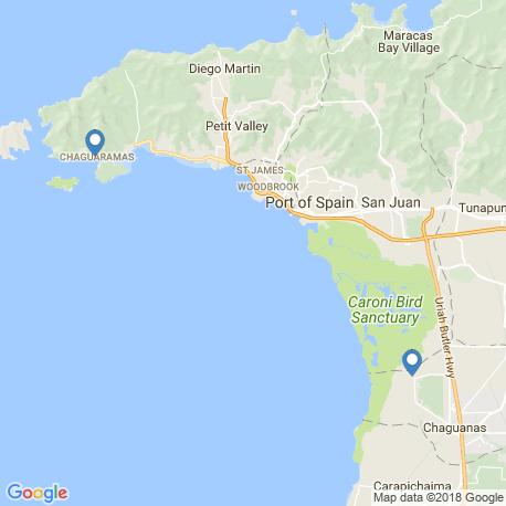 map of fishing charters in Chaguaramas