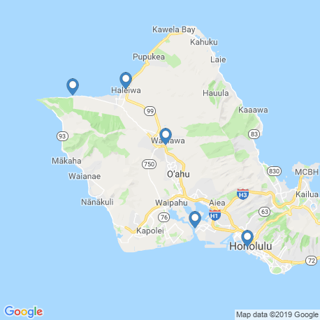 Карта рыбалки – Гонолулу