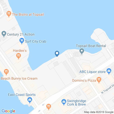 Карта рыбалки – Топсейл-Айленд