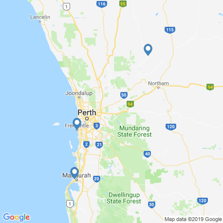 map of fishing charters in Perth