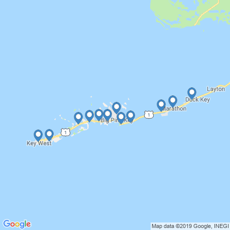 map of fishing charters in Cudjoe Key