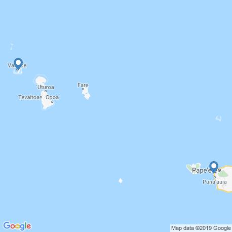 Карта рыбалки – Французская Полинезия