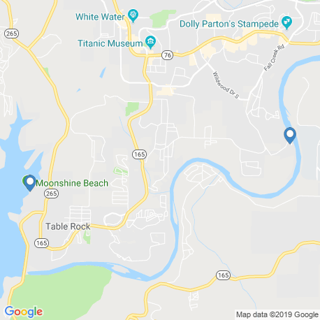 map of fishing charters in Branson