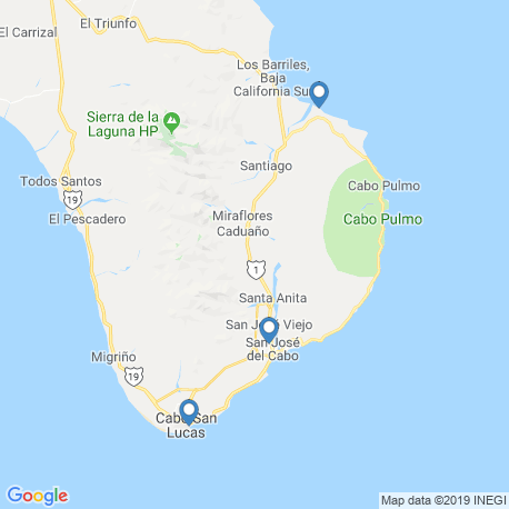 map of fishing charters in Los Cabos