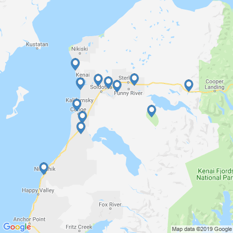 map of fishing charters in Soldotna