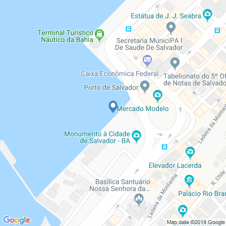 map of fishing charters in Salvador