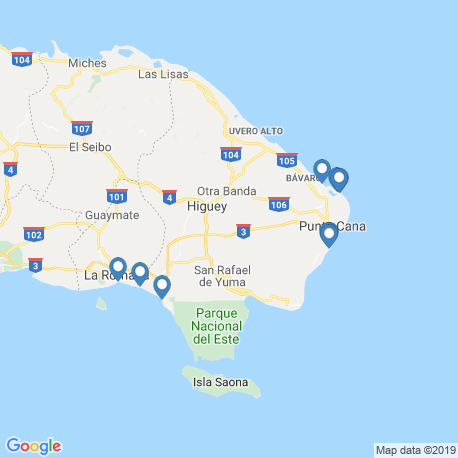 map of fishing charters in Punta Cana
