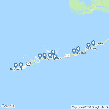 map of fishing charters in Cudjoe Key