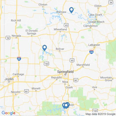 Карта рыбалки – Миссури