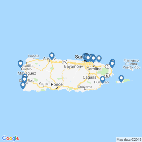 Карта рыбалки – Пуэрто-Рико