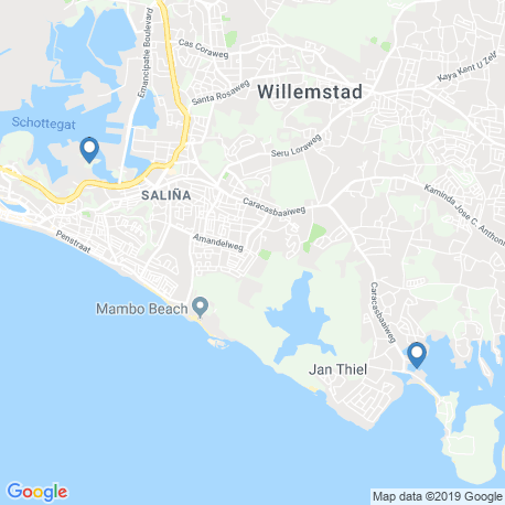 map of fishing charters in Willemstad