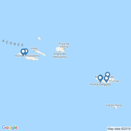 map of fishing charters in Azores