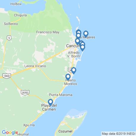Карта рыбалки – Канкун