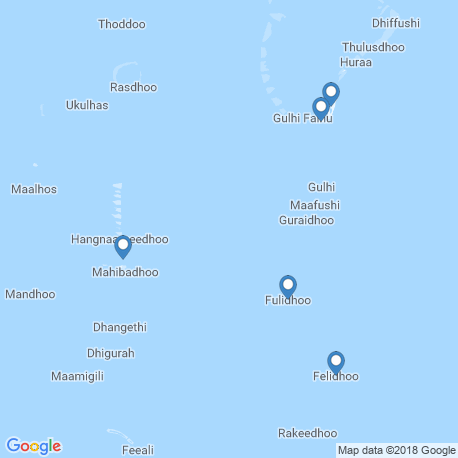 map of fishing charters in Fulidhooo