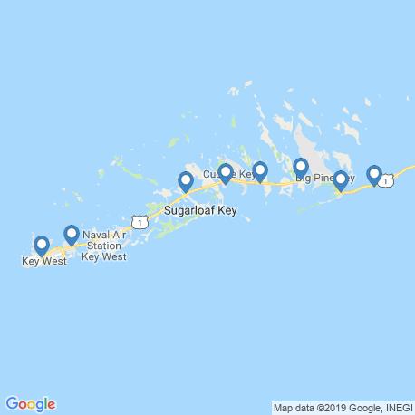 Карта рыбалки – Ки-Уэст
