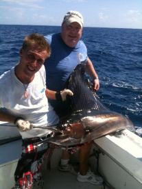 Atlantic Sailfish which we catch only 1 mile from shore