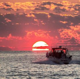 Sunrise heading out to the fishing grounds