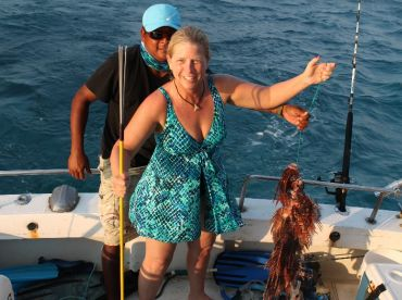 Free dive and spear the invasive lion fish