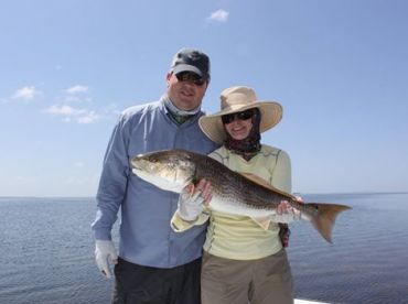 Ever seen 400 tailing redfish? They have now!