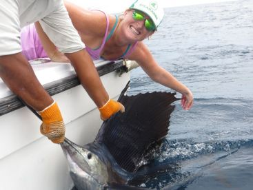 First sailfish for this client!