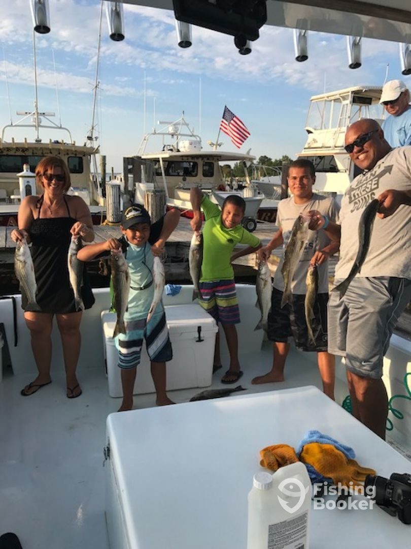 Happy crew with their limit of Rockfish