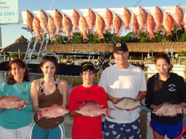 Boat record limit of 25 hogfish caught on rod and reel by novice anglers