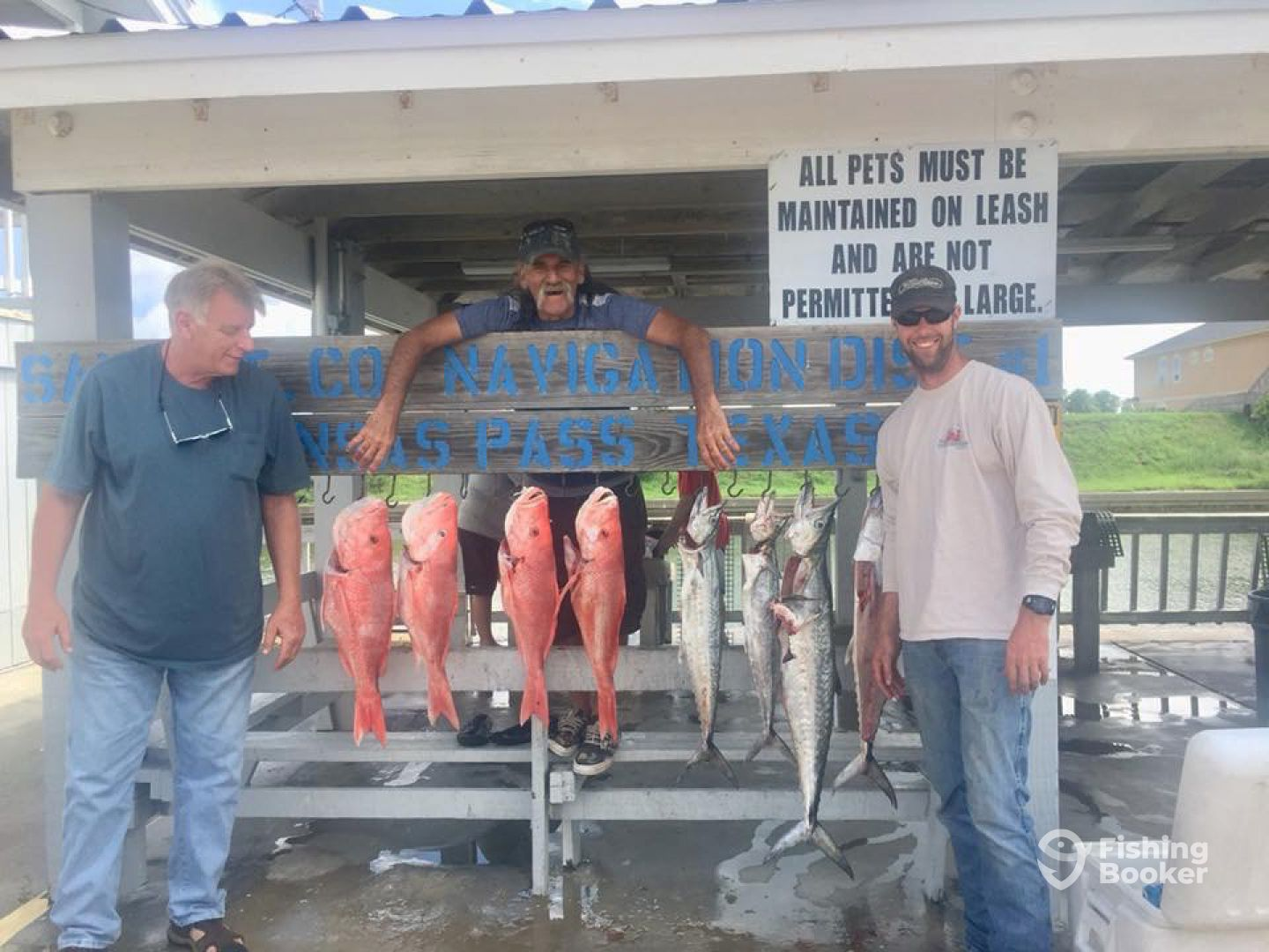 Guess was from Louisiana 4 red snapper 4 kings