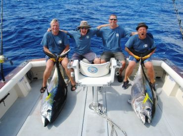 Two of four Bigeye tunas caught on the same day during the International Big Game Azores tournament 2013