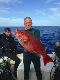 Capt. Dave with a large Red Snapper.