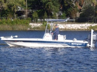 23' Ranger Bay Boat. 250 H.P. Yamaha outboard. 10ft. Power Pole Blade. Minn Kota Trolling Motor. Custom T-top. Fusion radio with I phone  and I pod hook up. Large build in cooler.  Ample seating for 6 passengers. All Eupro terminal tackle. Penn reels.