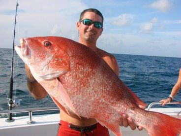 40lb Red Snapper caught on a 6hr trip!!!!!!!