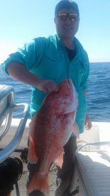 Brad with a beautiful Red Snapper