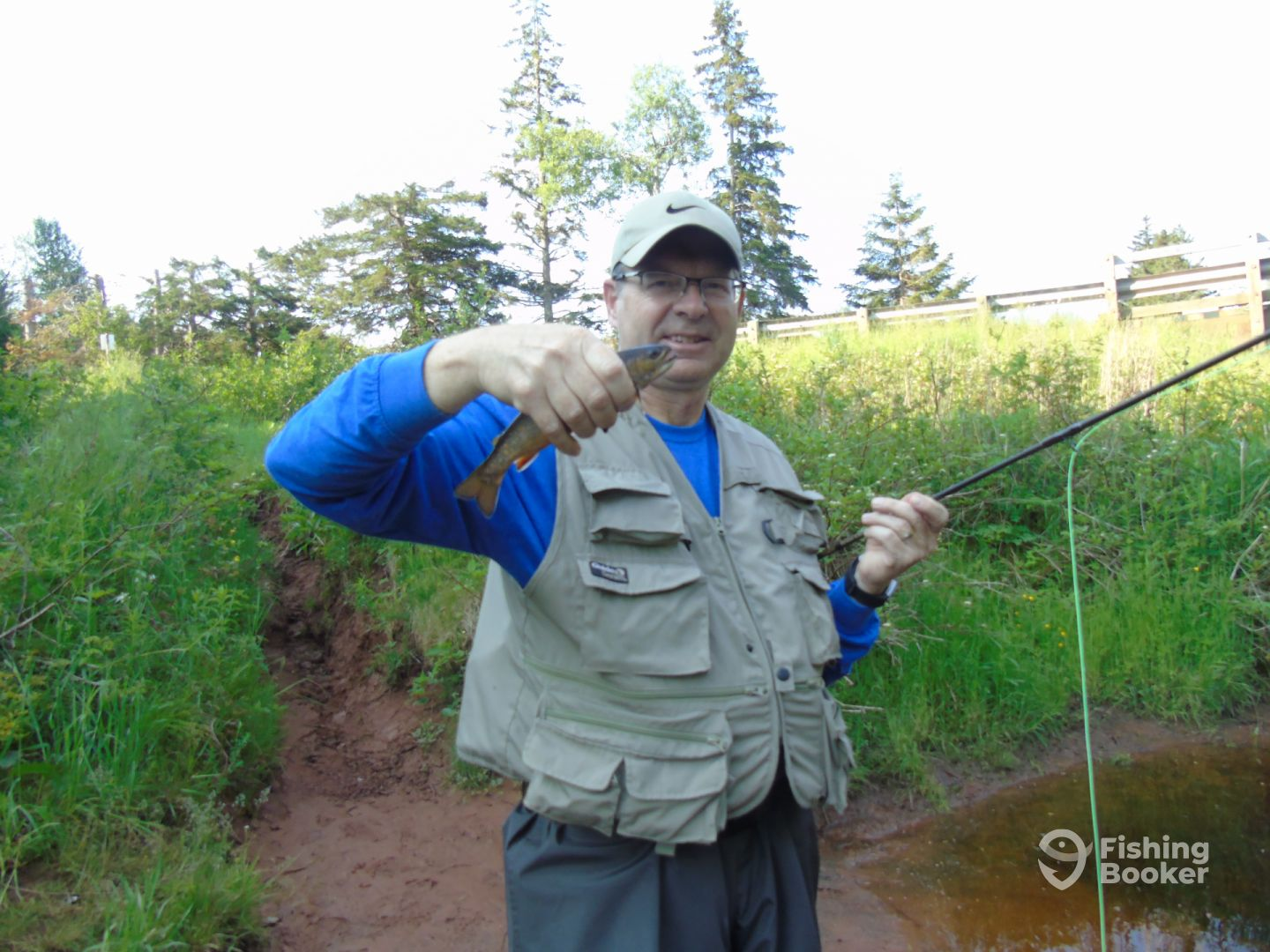 This was his first brook trout.